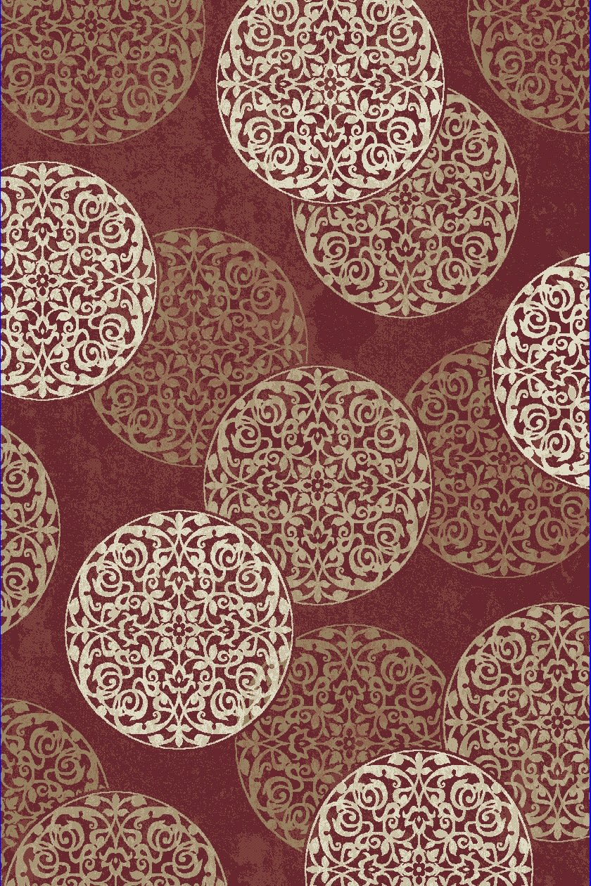 Melody Red Medallion/Damask 3.11'x5.3' Rectangle Rug
