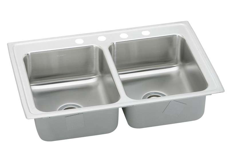 Gourmet Drop In Steel Kitchen Sink LR2918MR2 Lustertone (with 2 Faucet Holes)