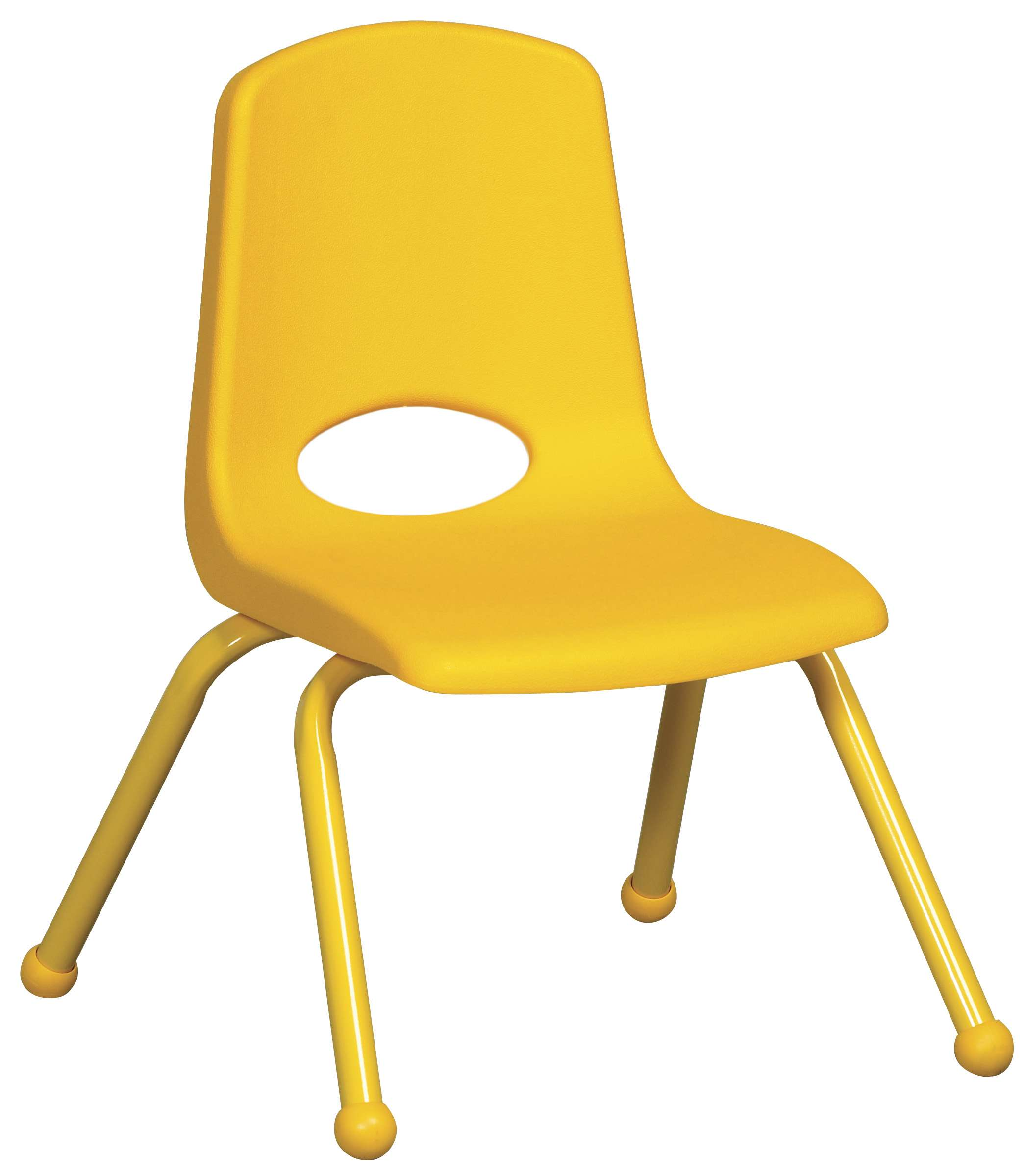 """12"""" Yellow Stack Chair with Matching Legs - Set of 6"""