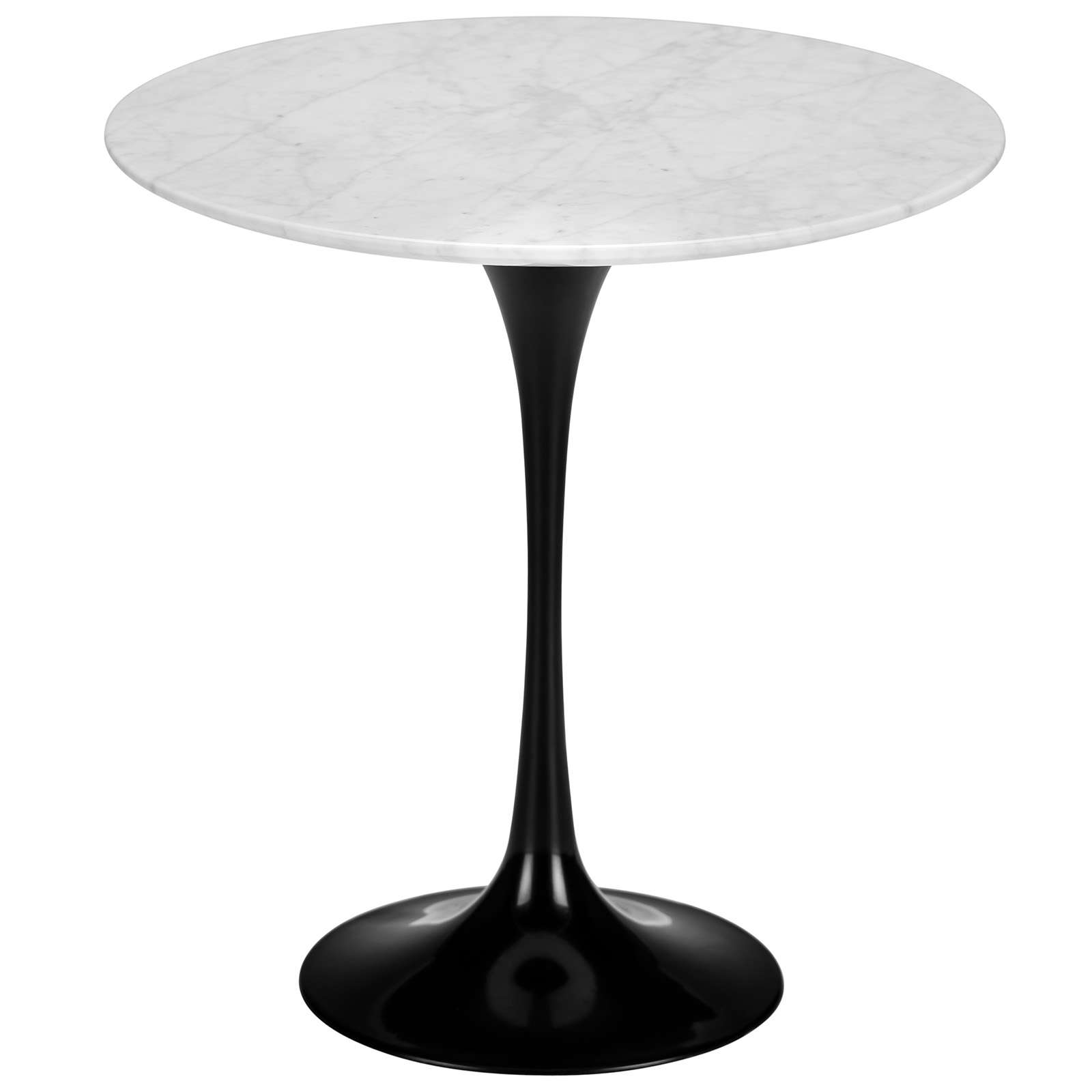 "Daisy 20"" Marble Side Table in Black Base"