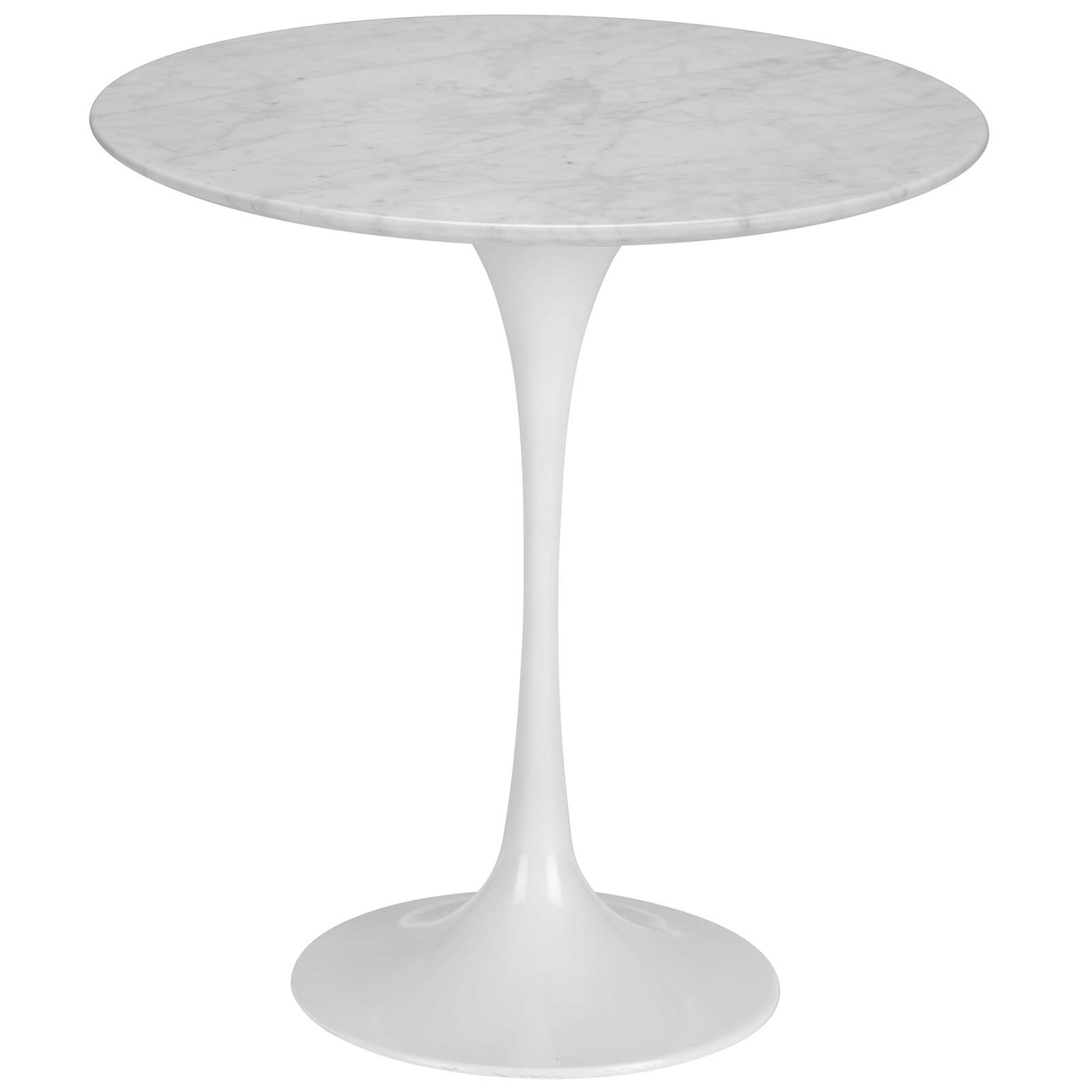 "Daisy 20"" Marble Side Table in White Base"