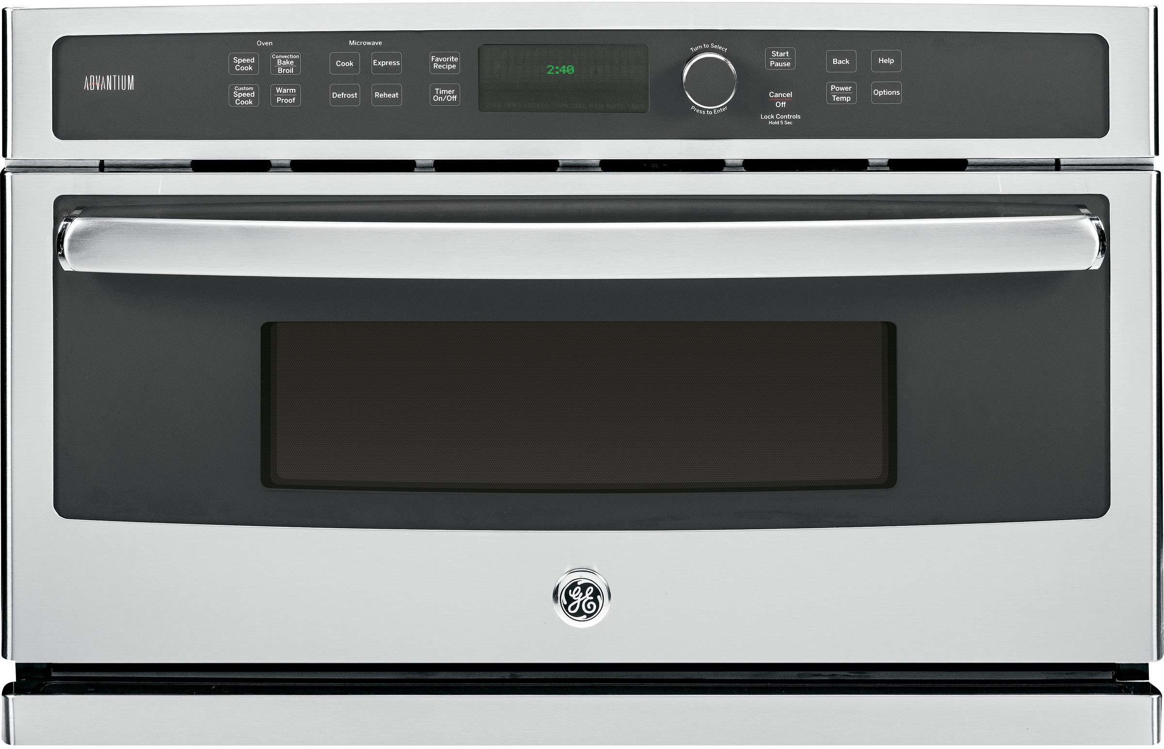 """Profile Advantium 30"""" Stainless Steel Electric Single Wall Oven - Convection - Speed Oven"""
