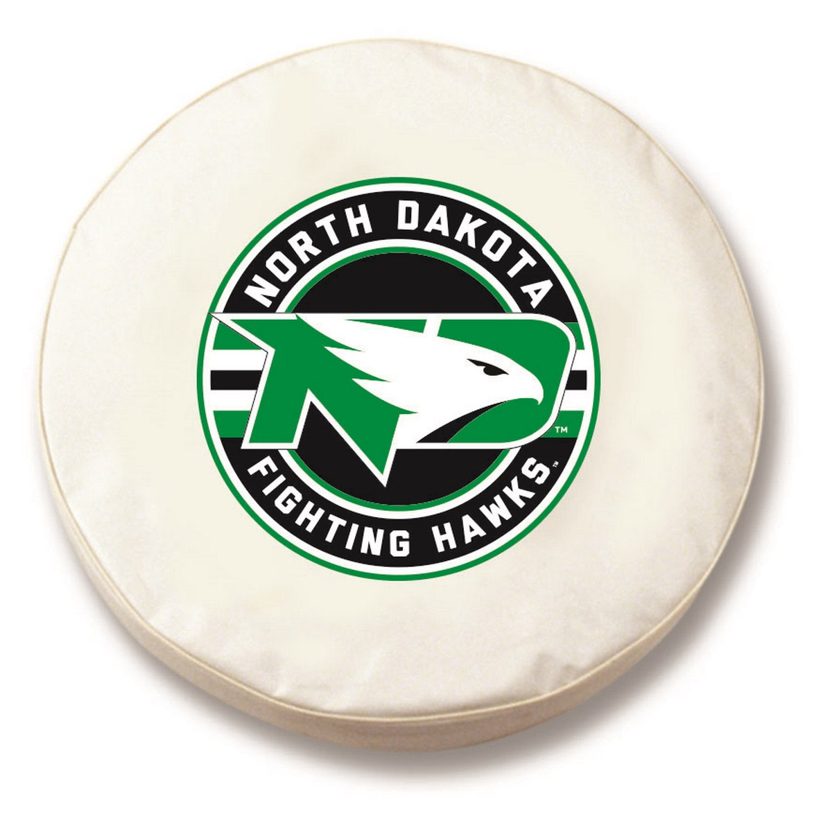 "37"" x 12.5"" White University of North Dakota Vinyl Tire Cover"