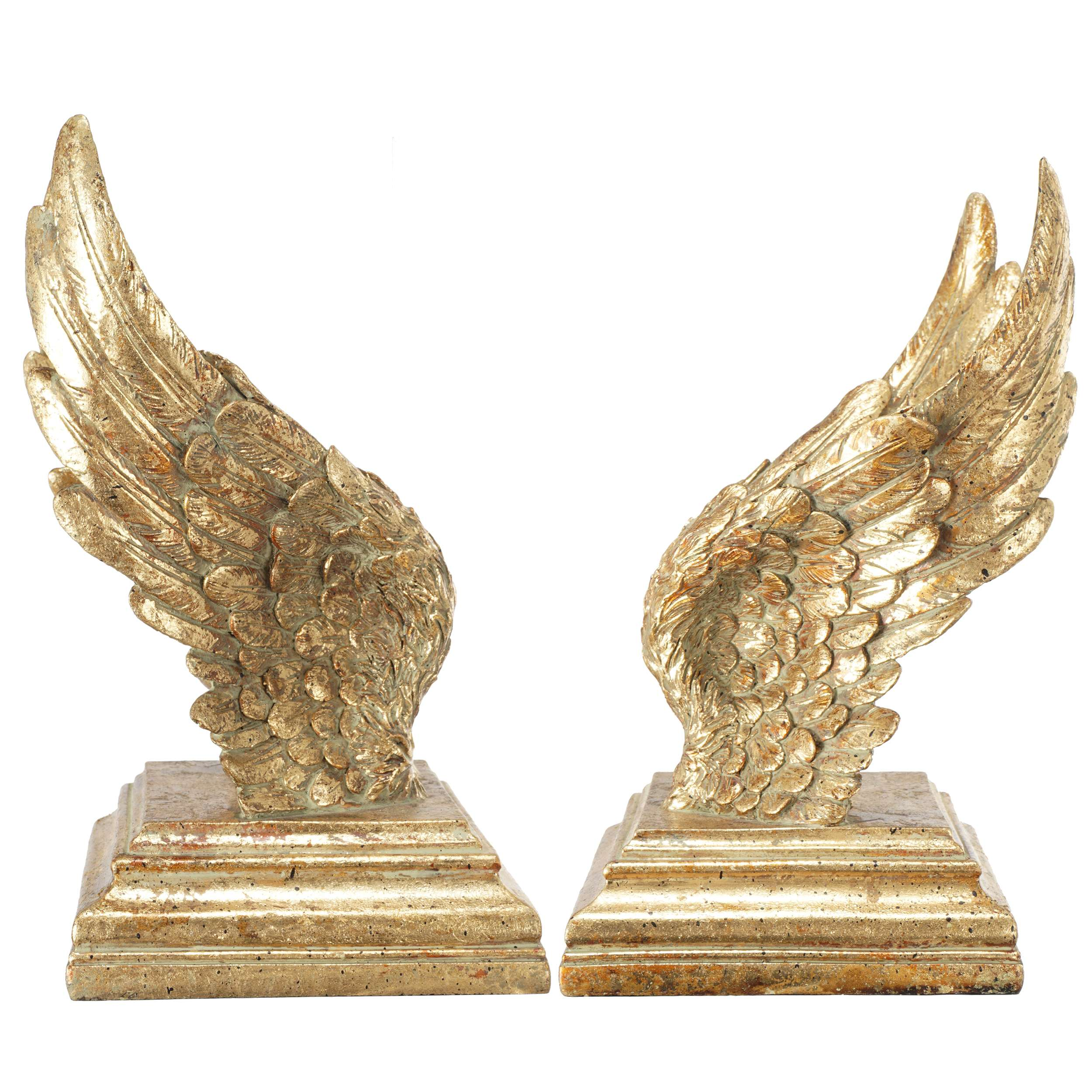 Gold Set of 2 Soar Wing Bookends