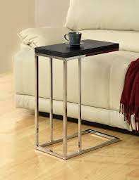 Cappuccino Accent Table with Chrome Legs