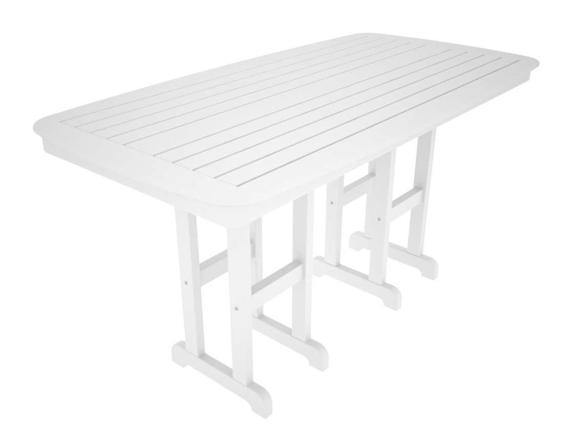 "Nautical White 37"" x 72"" Counter Table"