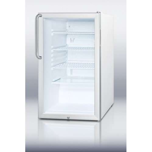 "20"" 4.1 cu. ft. Stainless Steel Undercounter Compact Refrigerator - ADA Compliant"