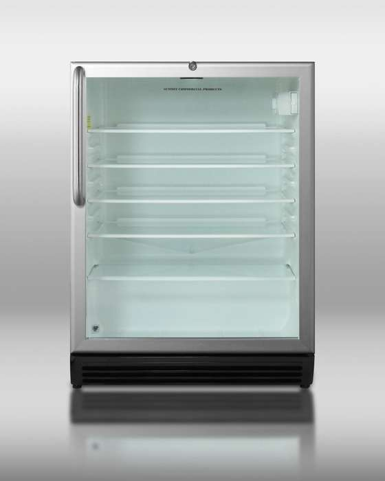 """24"""" 5.5 cu. ft. Stainless Steel Undercounter Built-In Beverage Center - Right Hinge - ADA Compliant"""