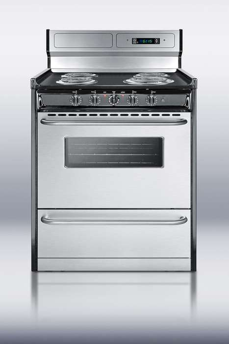 """Professional 30"""" Stainless Steel Electric Coil Range"""