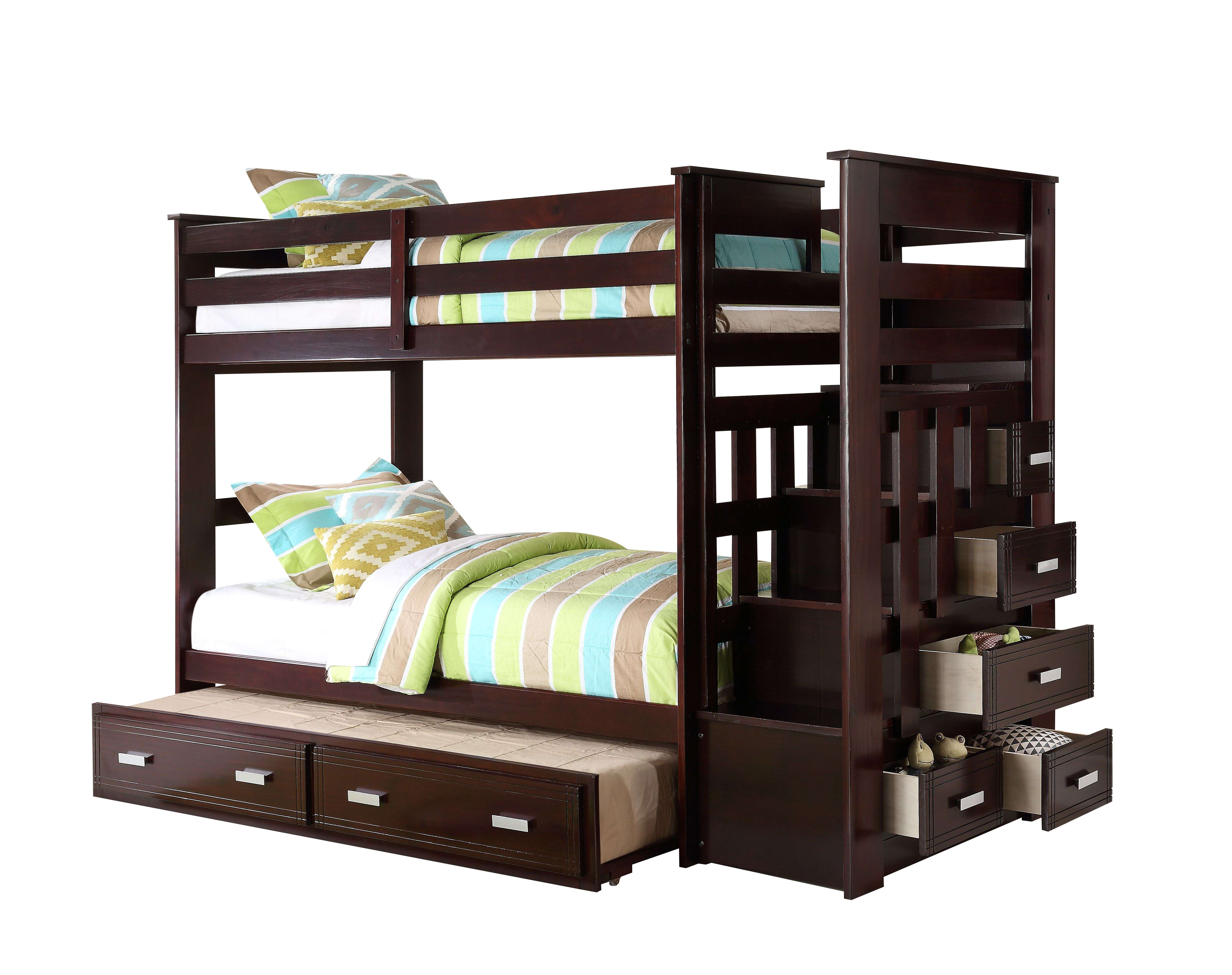 Acme Furniture Allentown Espresso Twintwin Bunk Bed With Storage