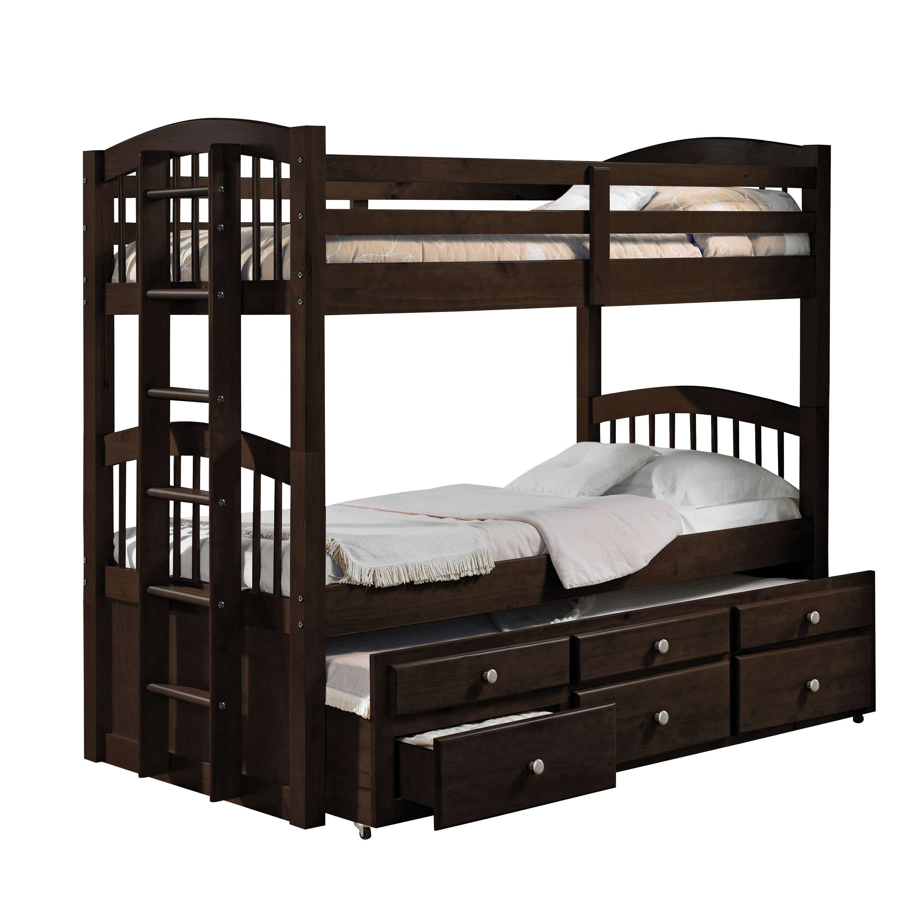 Acme Furniture Micah Espresso Twintwin Bunk Bed Trundle With 3