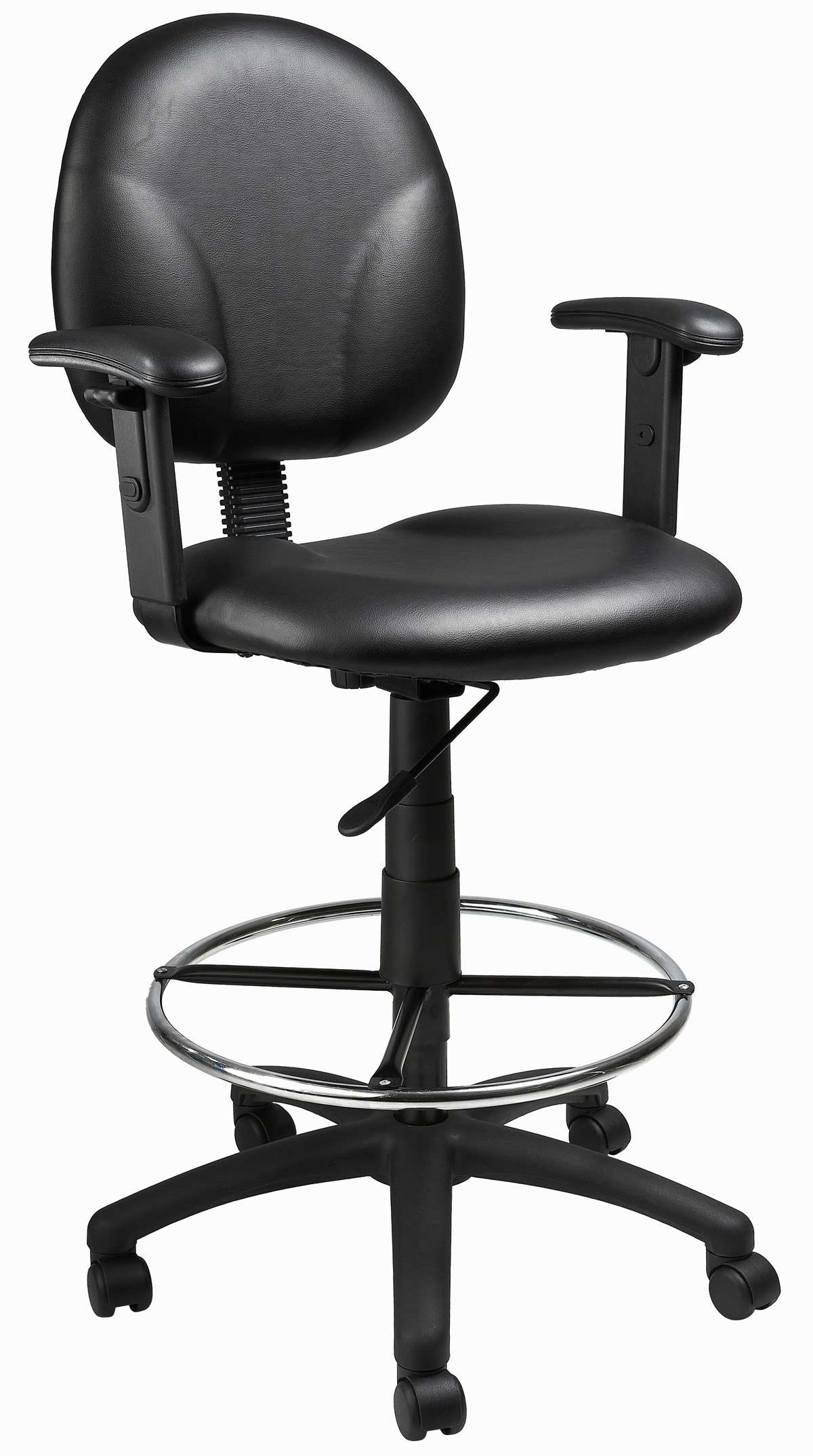 Boss Office Products Black Caressoft Drafting Stools With