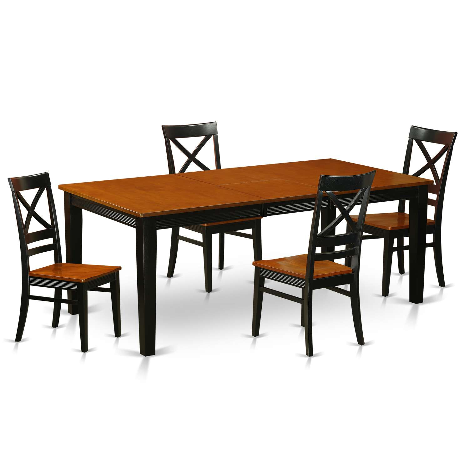 East West Furniture Quin5 Blk W