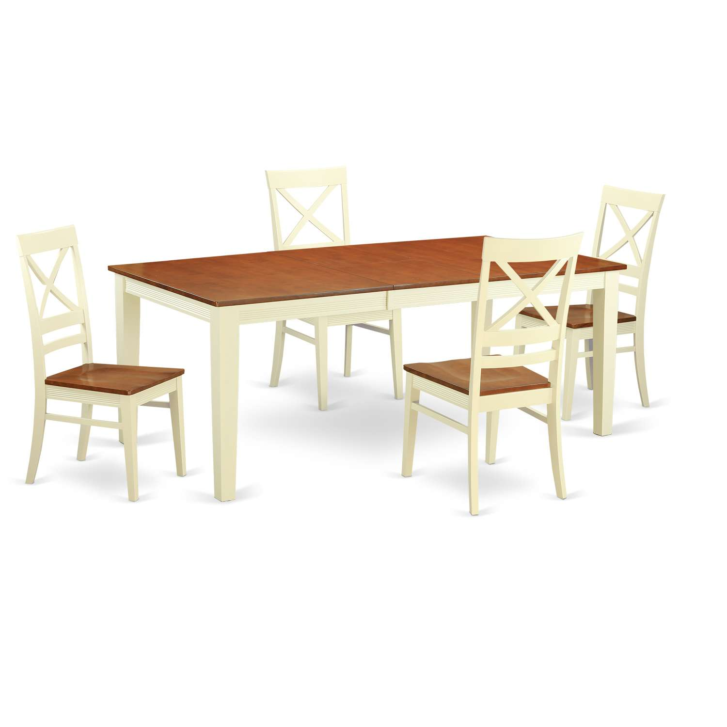 East West Furniture Quin5 Whi W