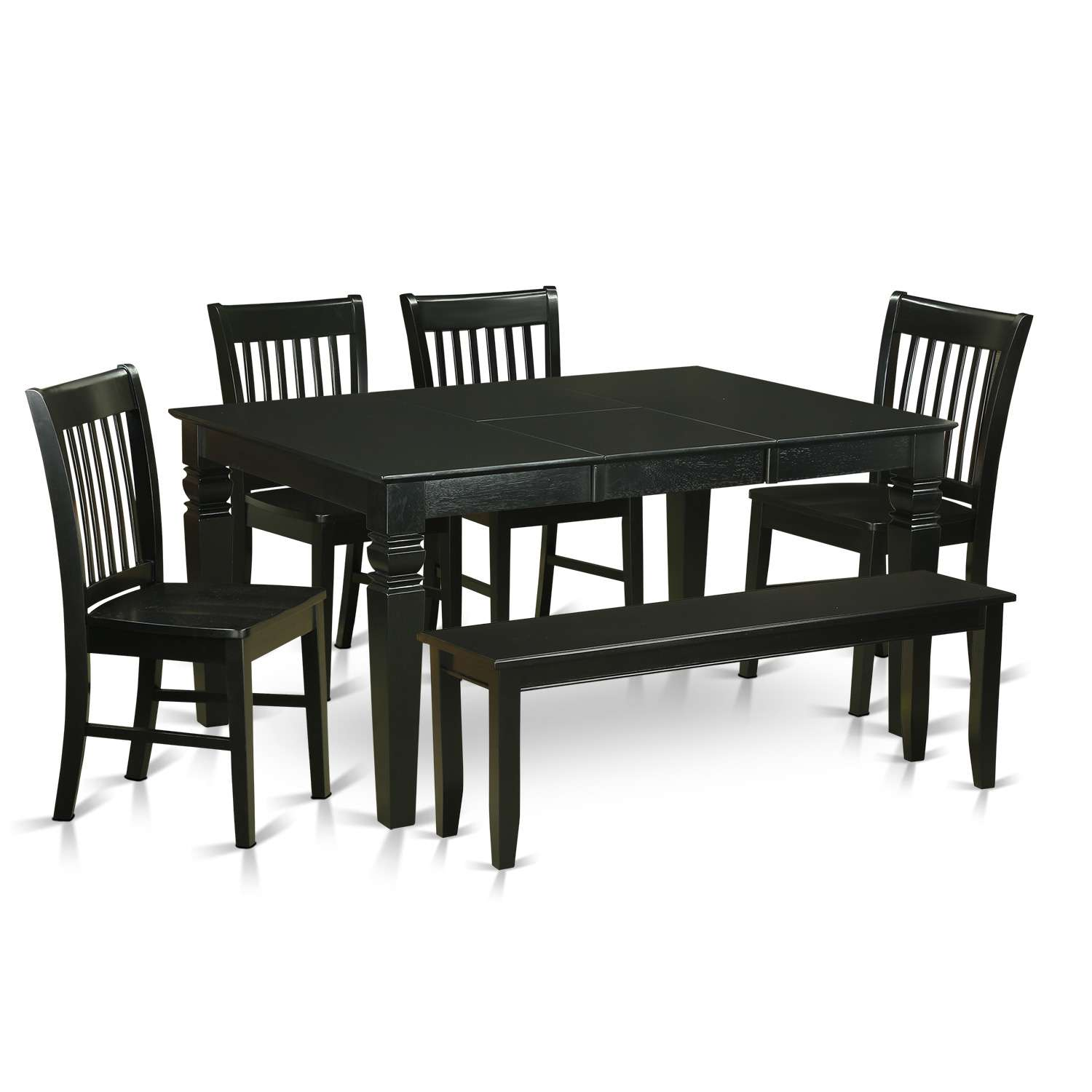 East West Furniture Weston 6 Piece Dining Table Set Table With