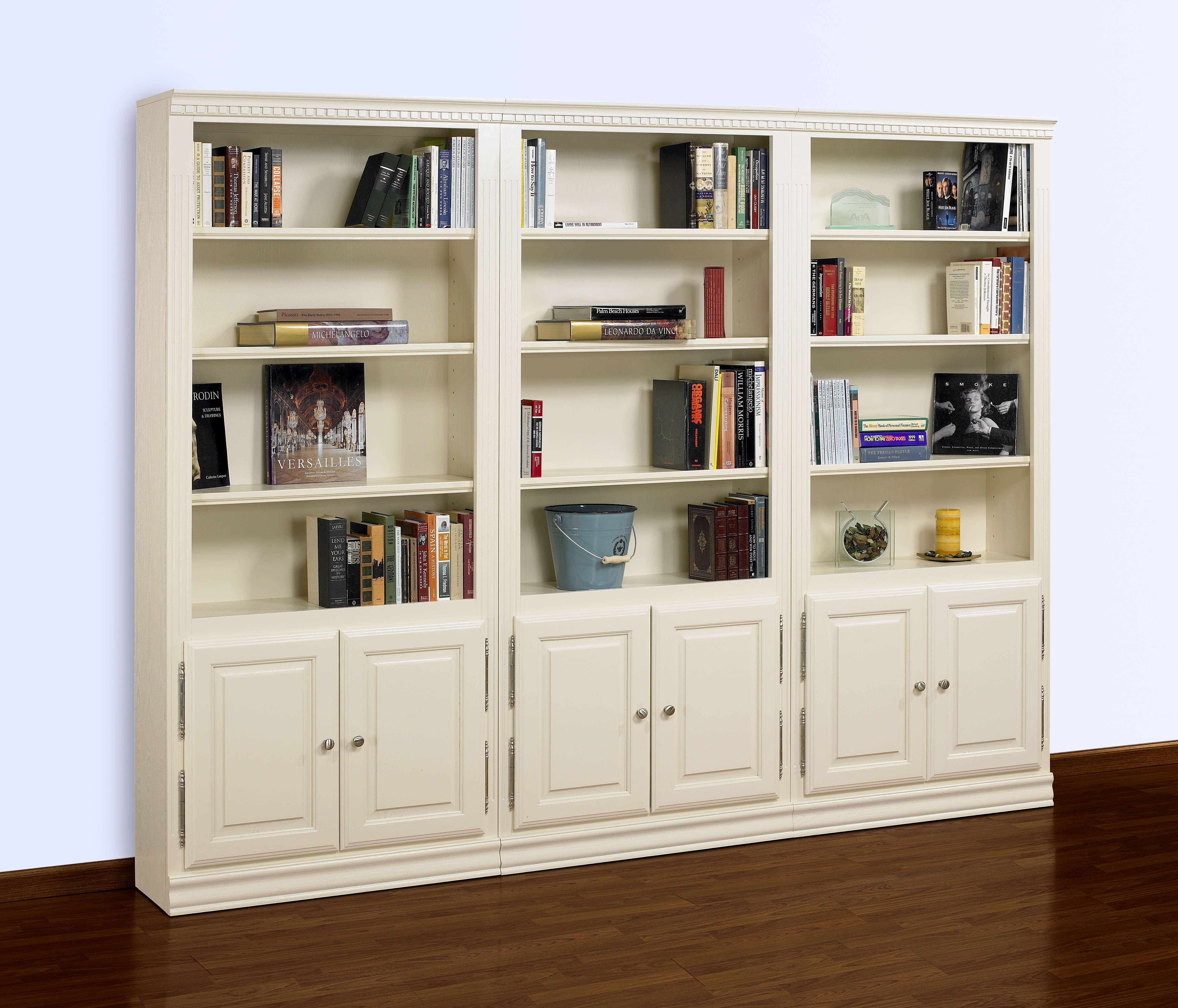 Ae Wood Design Hampton Pearl White 84 3 Piece Tall Wall Media Unit