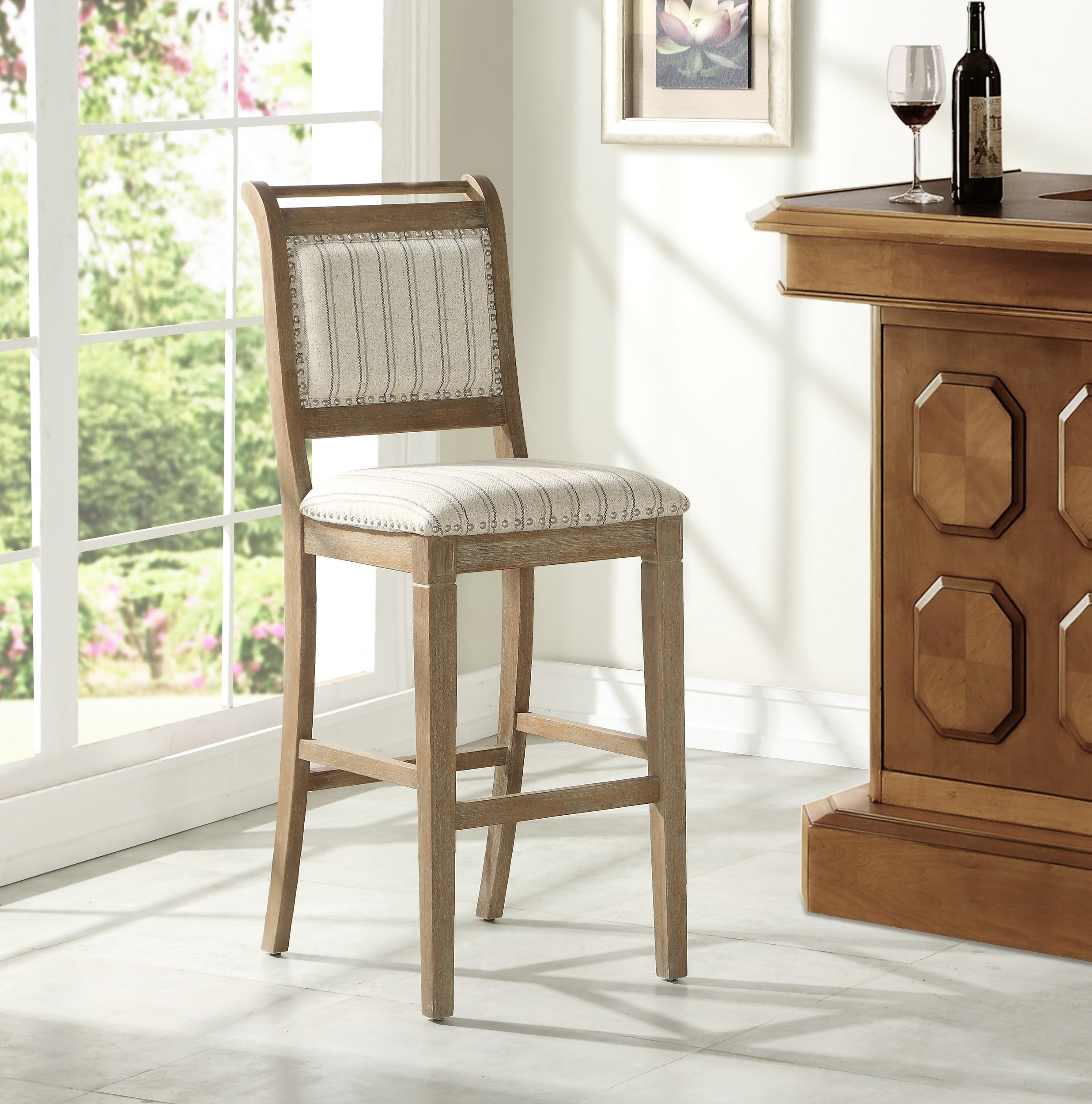 Linon Home Decor Products Inc Emmy Gray Bar Stool Reviews