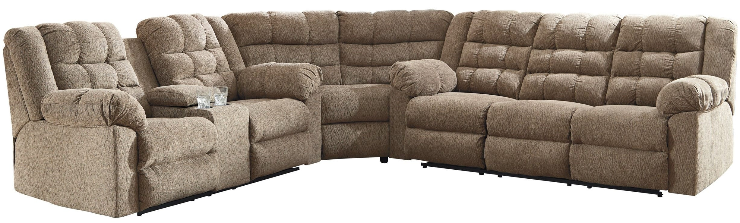 Signature Design By Ashley Workhorse Cocoa 3 Piece Sectional Sofa