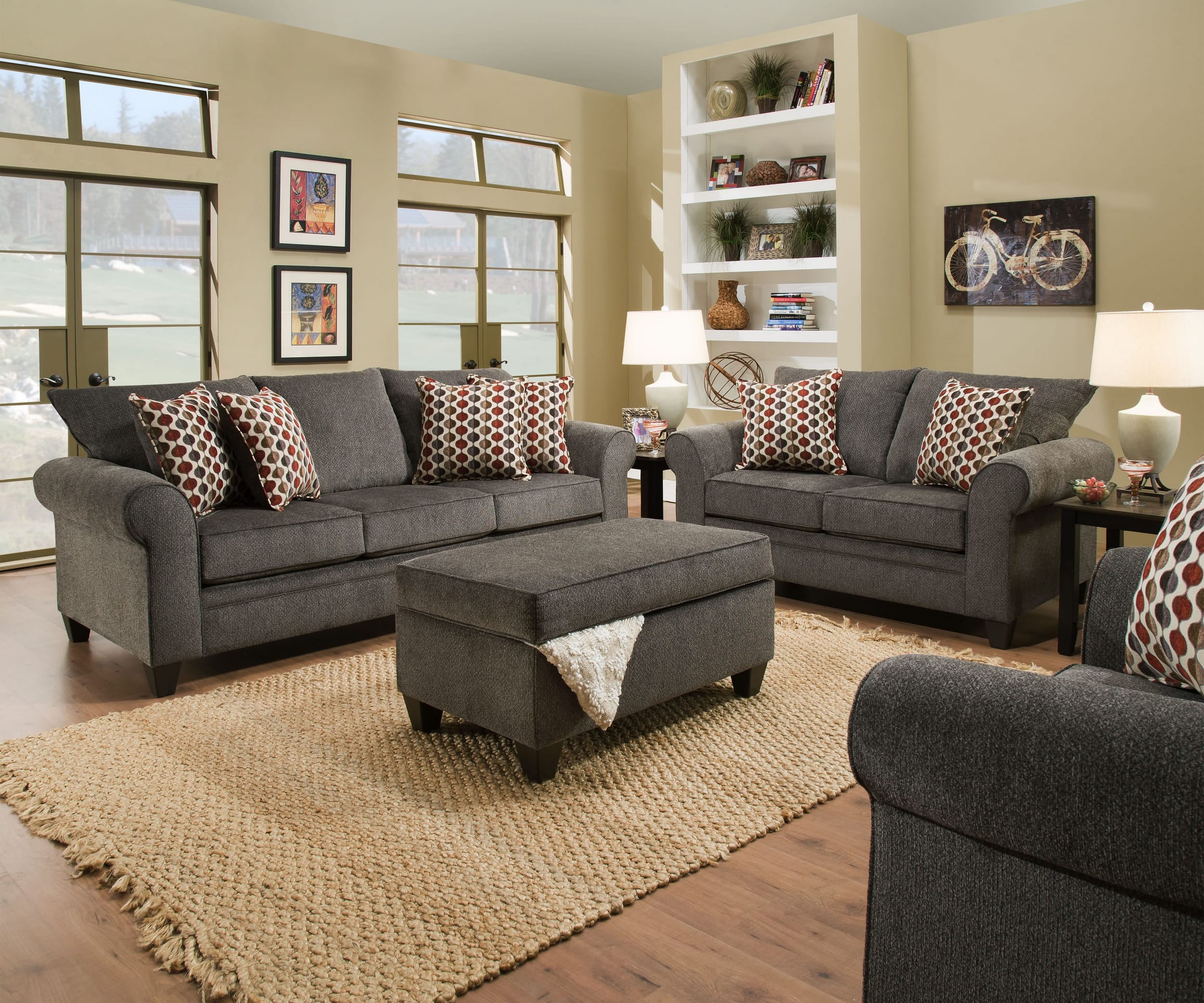 Albany Pewter 3 Piece Living Room Set