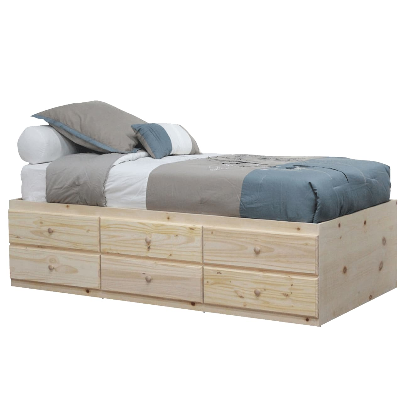 Gothic Furniture Storage Bed Twin Unfinished Reviews Goedekers Com