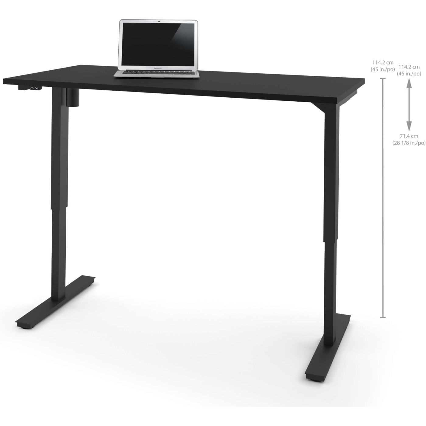 Bestar 30 Quot X 60 Quot Electric Height Adjustable Table In Black