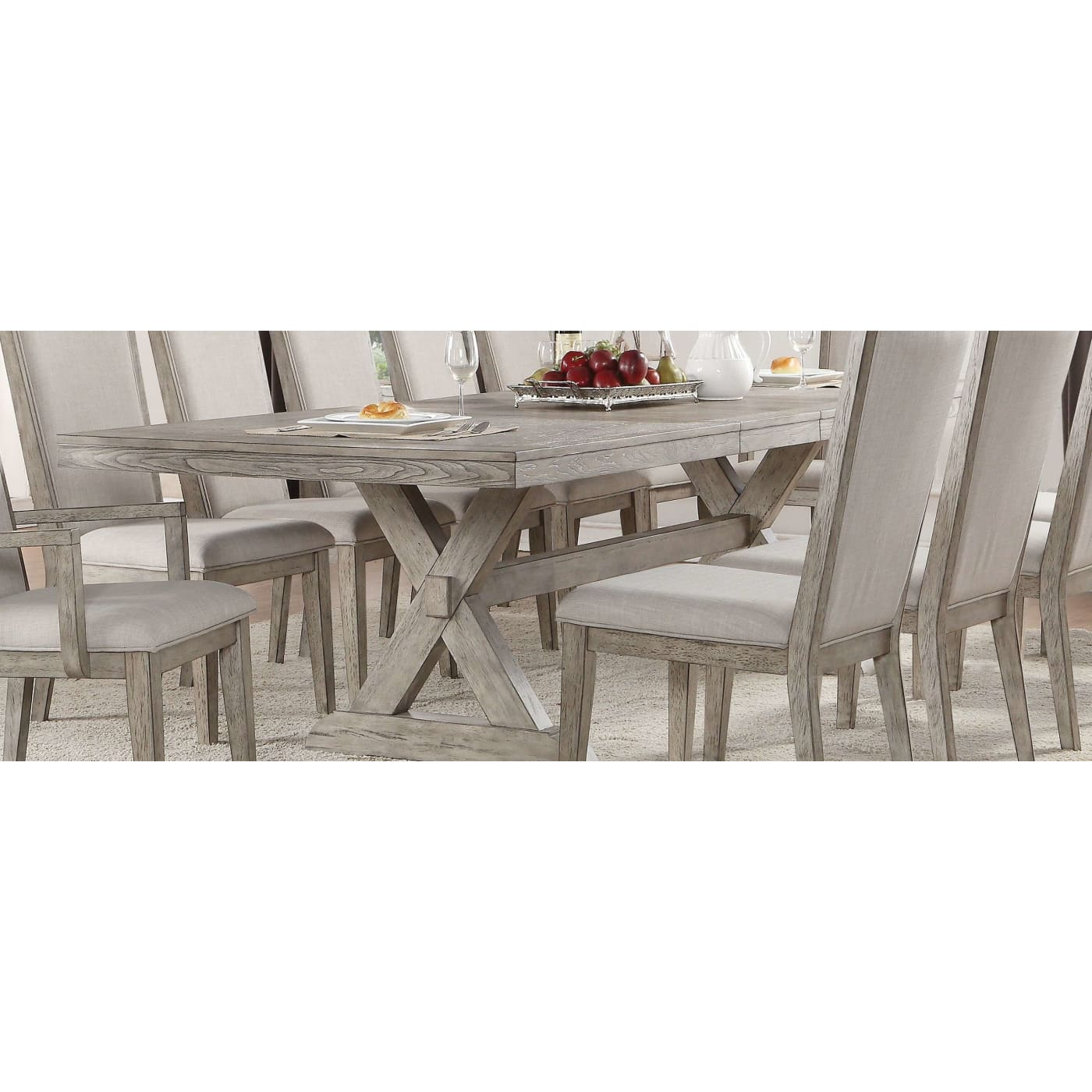 80831560ed6b Rocky Gray Oak Rectangular Dining Table. Table Only, Chairs Sold  Seperately. Acme-72860 ...