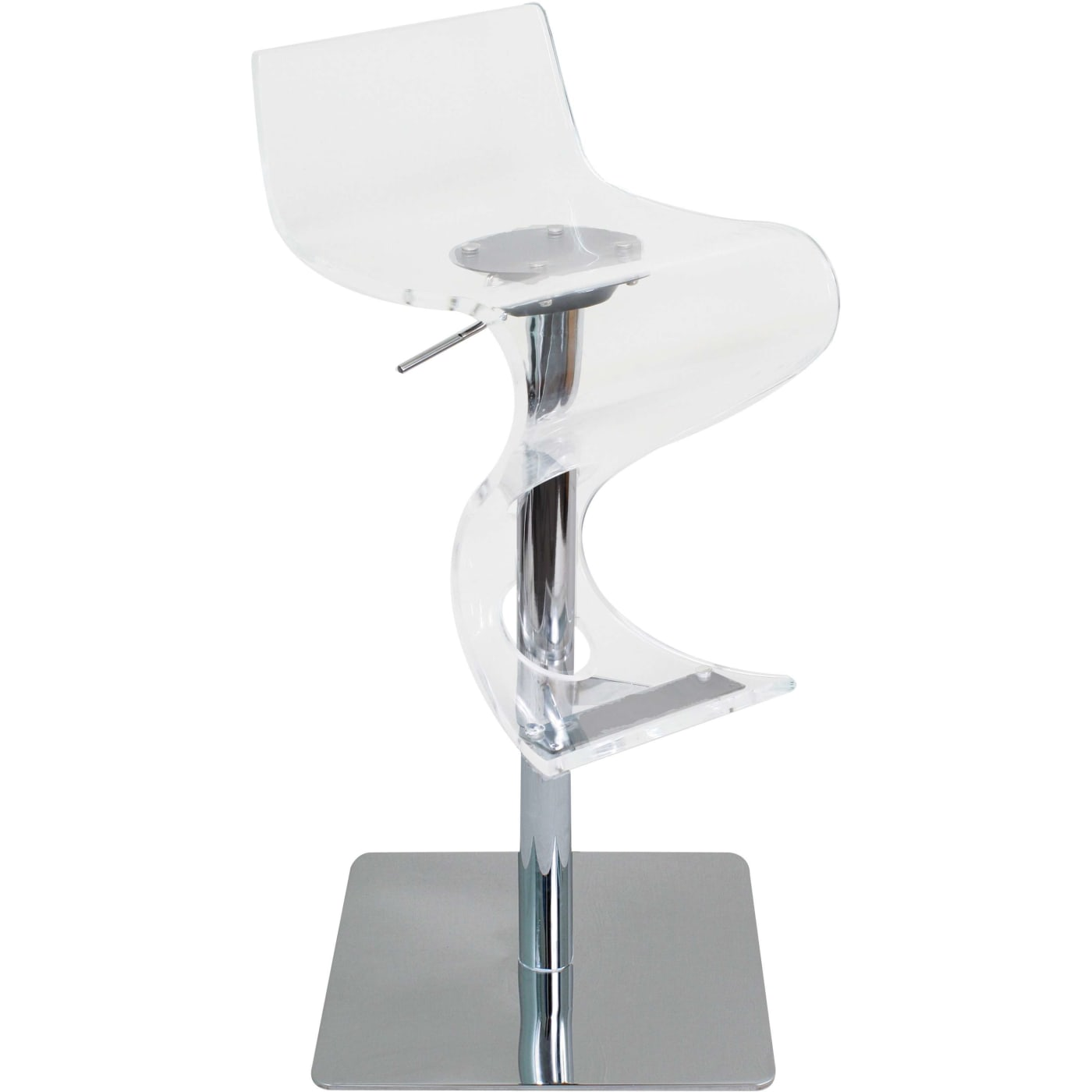 Lumisource Viva Clear Bar Stool Amp Reviews Goedekers Com
