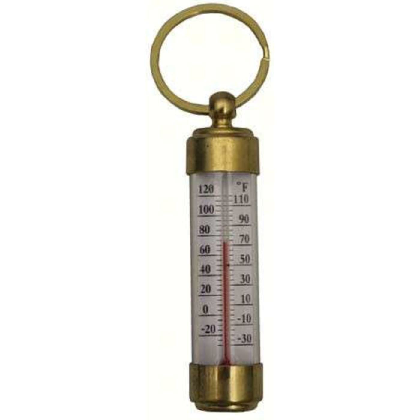 conant custom brass vermont travel thermometer living finish brass