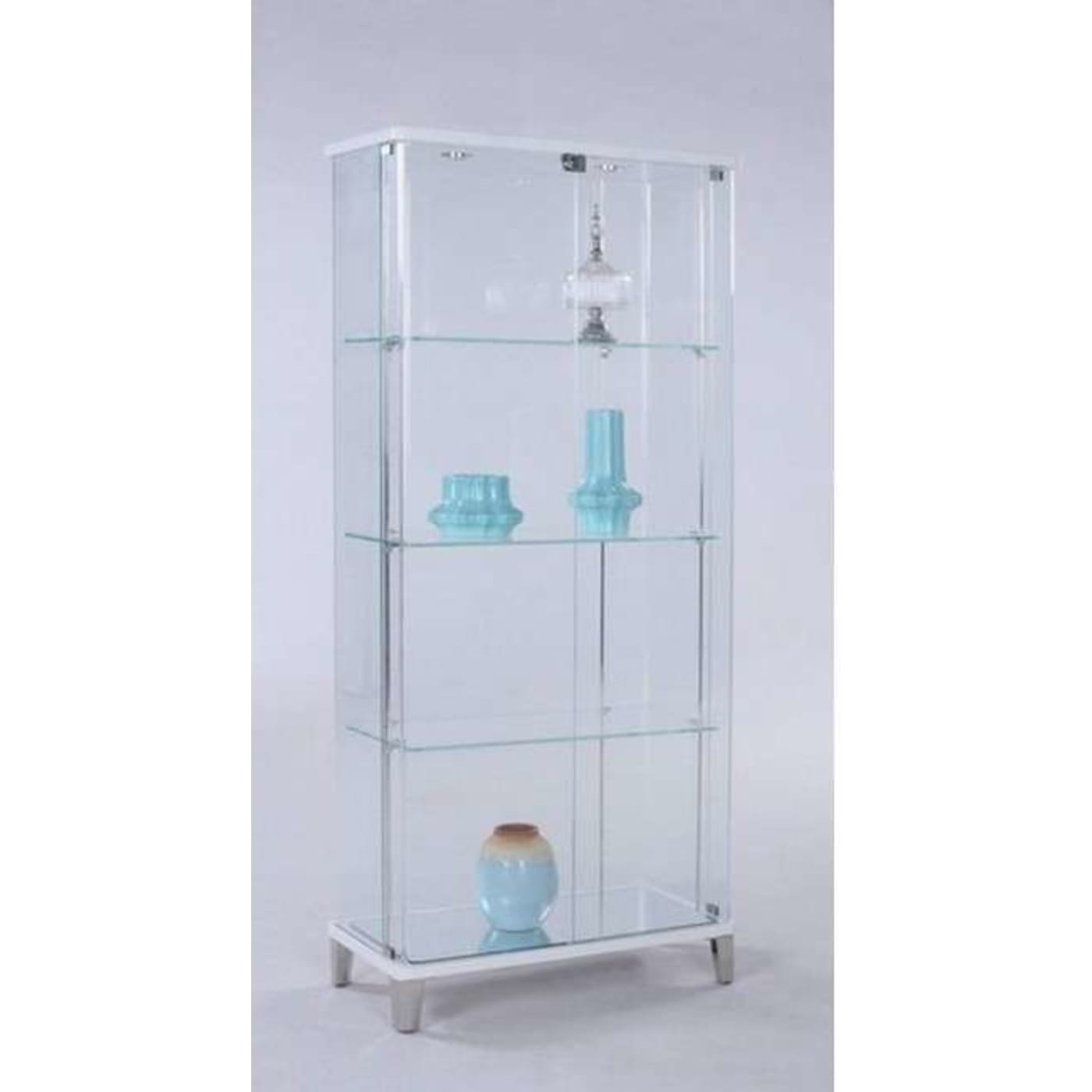 Exceptionnel Gloss White Curio Cabinet. Chintaly 6639 CUR ...