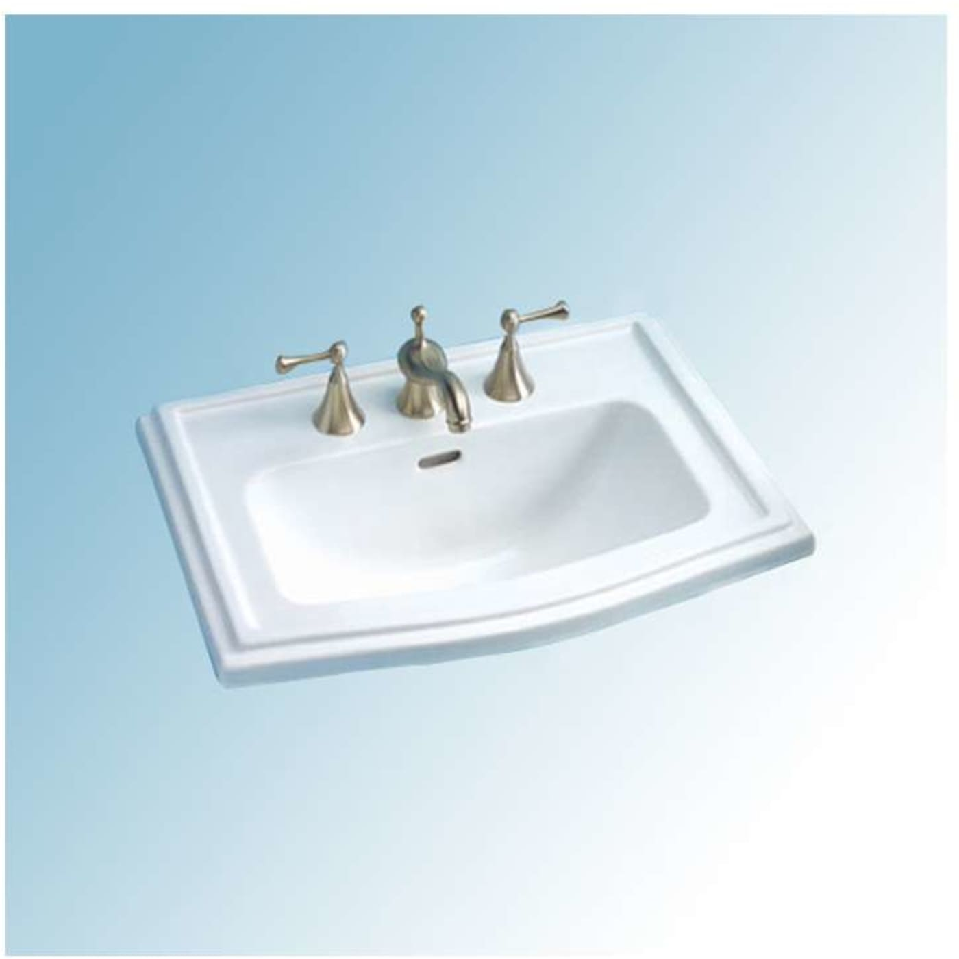 Toto Clayton Drop In/Self Rimming Vitreous China Bathroom Sink LT781 ...