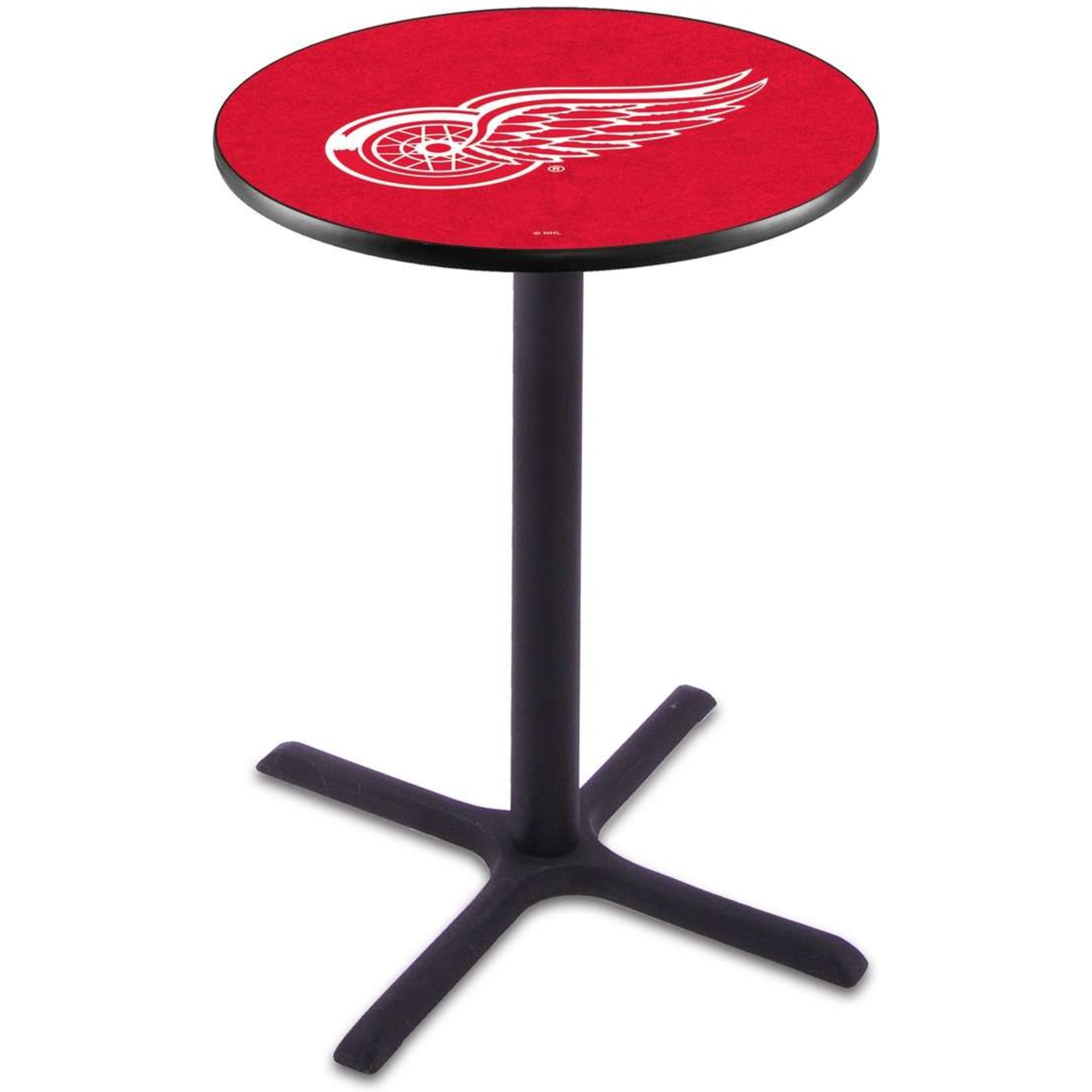 Holland Bar Stool 36 Quot Black Wrinkle Detroit Red Wings Pub