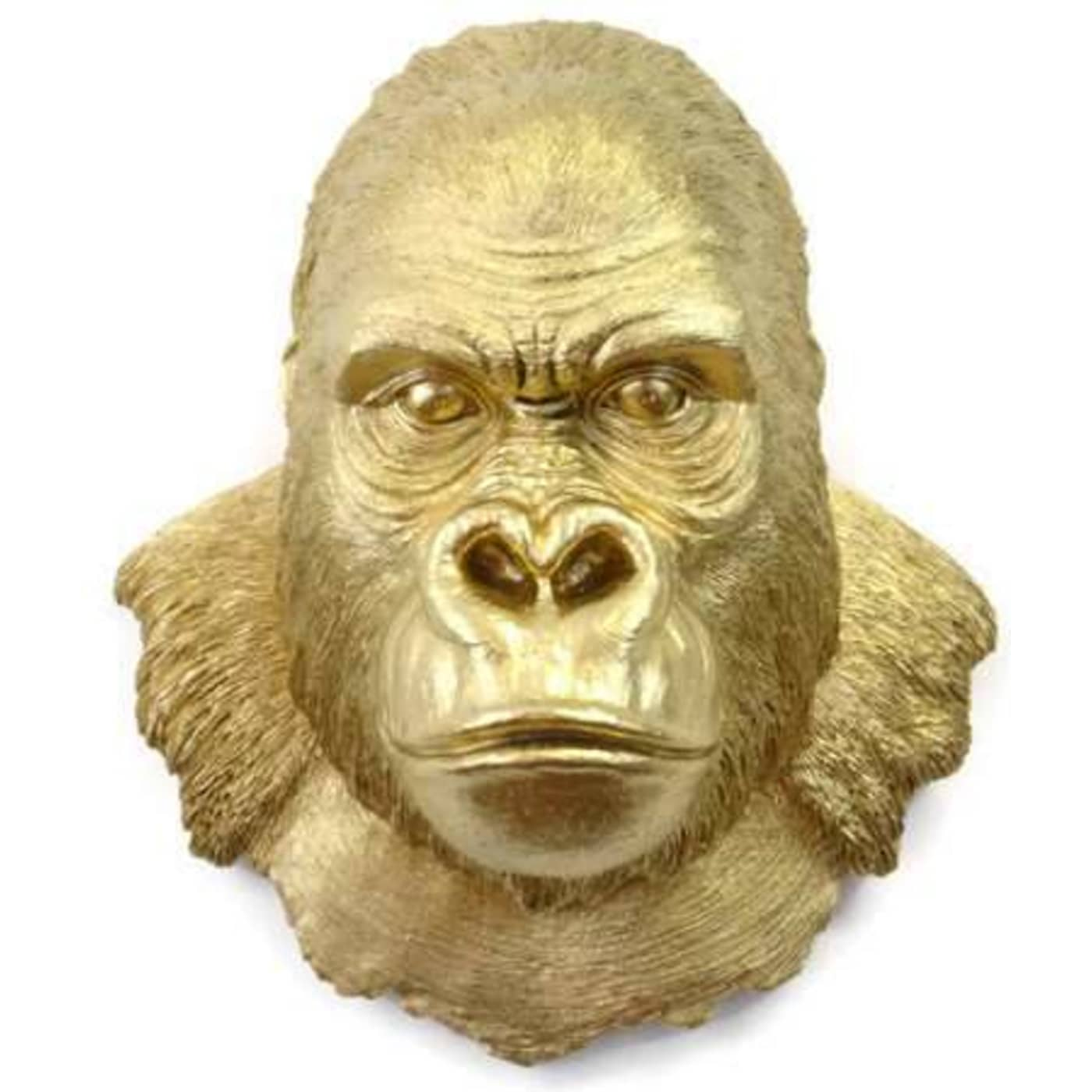 Near and Deer GOR08 Gold Gorilla Head Wall Mount Decor | Goedeker