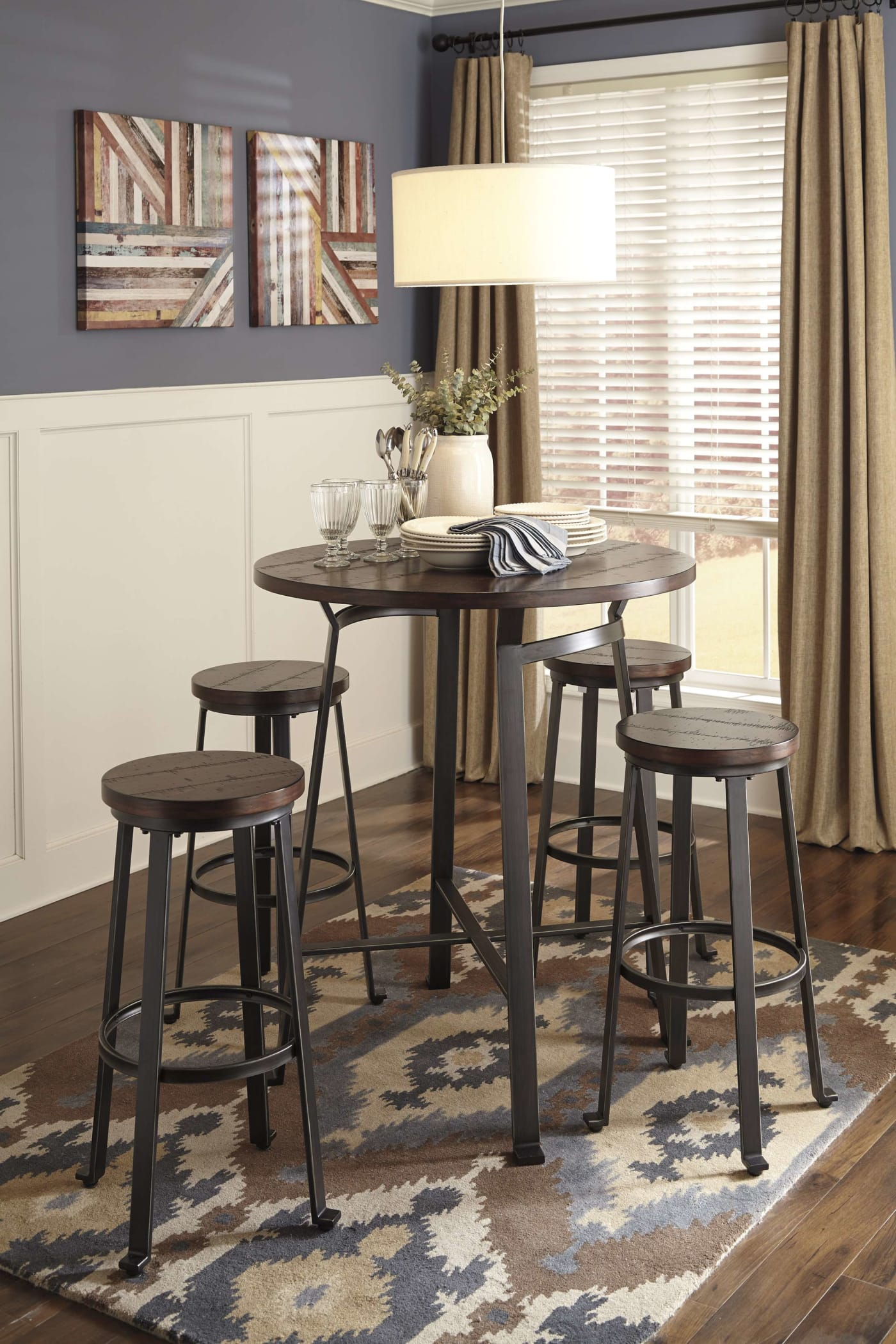 Signature Design By Ashley Challiman Rustic Brown Tall