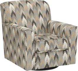 Signature Design by Ashley 8850244 Braxlin Charcoal Swivel Accent Chair