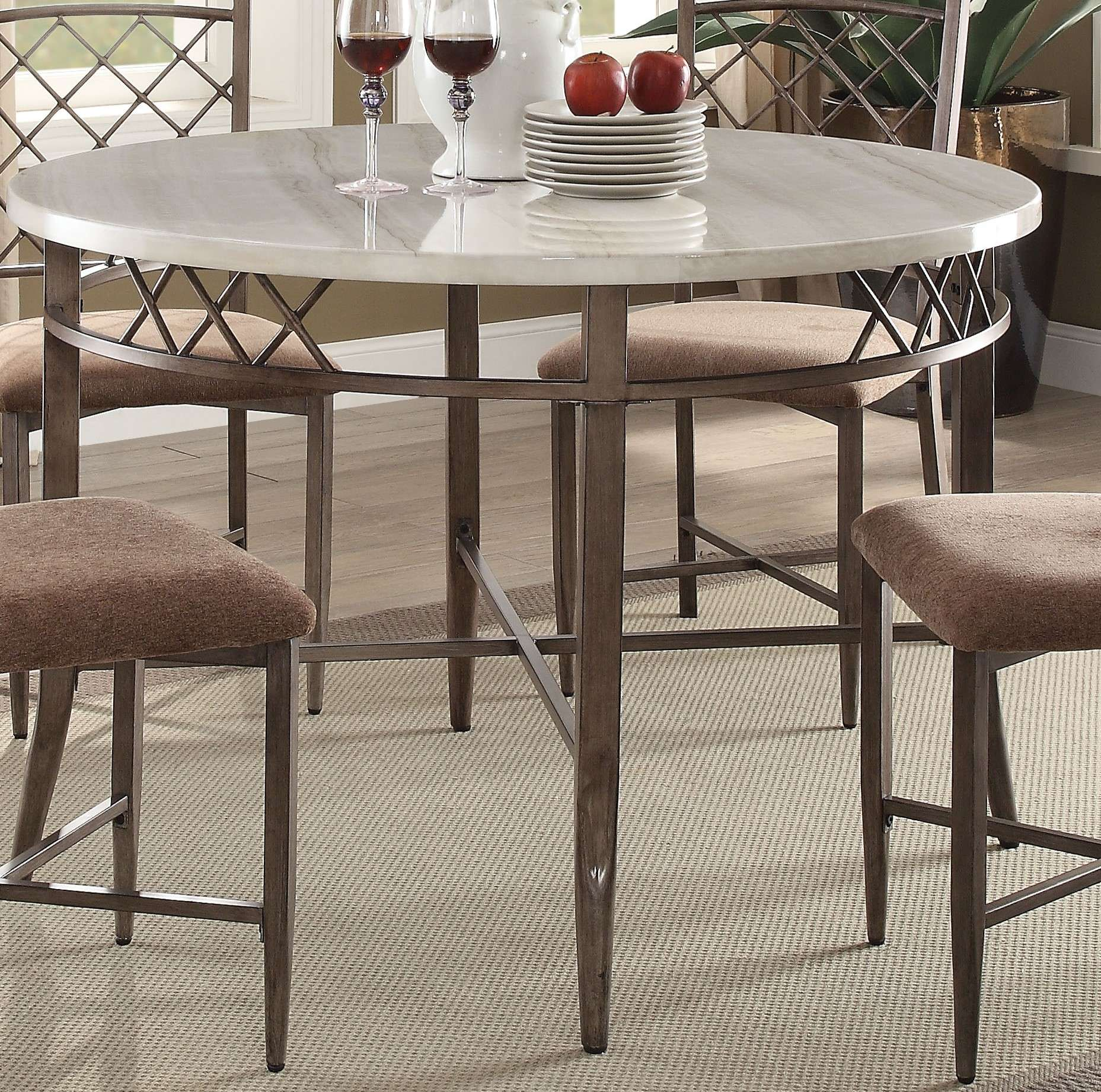 Sensational Acme Furniture Aldric Cream Faux Marble Antique Brown Dining Table Reviews Goedekers Com Pdpeps Interior Chair Design Pdpepsorg
