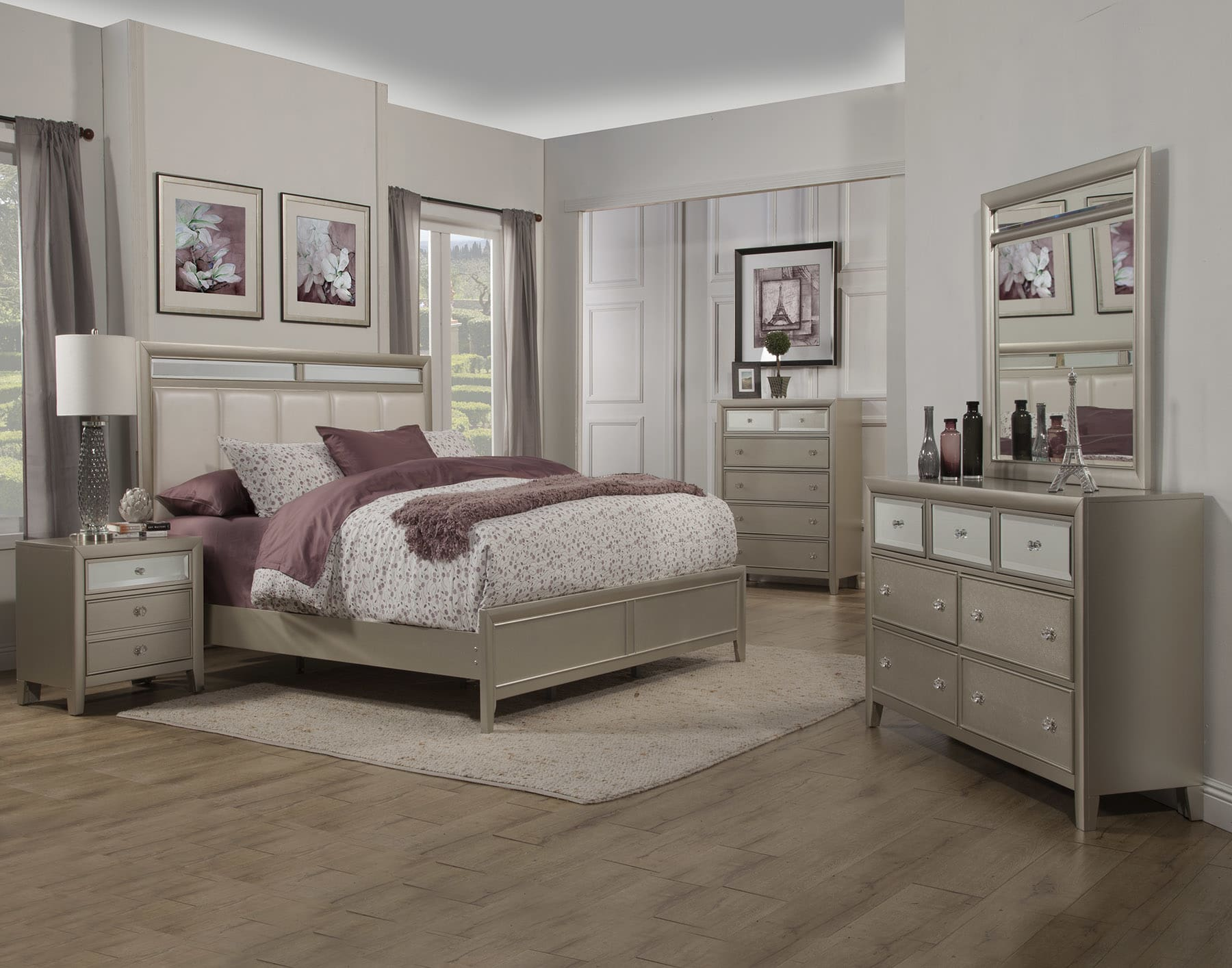 Alpine Silver Dreams King 5-Piece Bedroom Set & Reviews - Goedekers.com