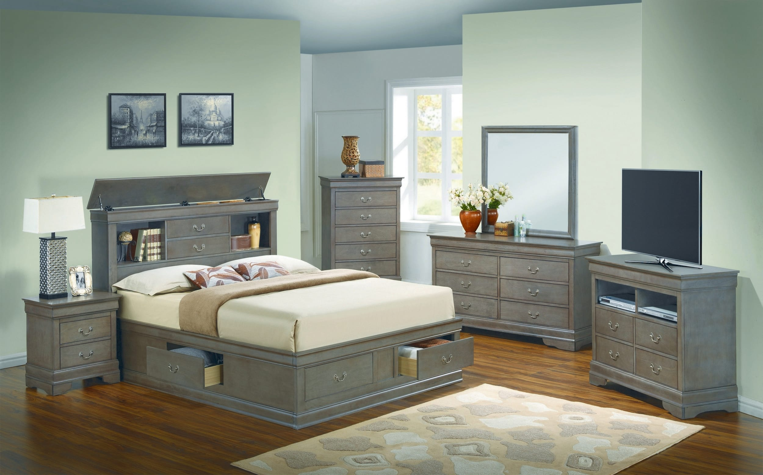 74+ King Bedroom Set With Storage Headboard Best