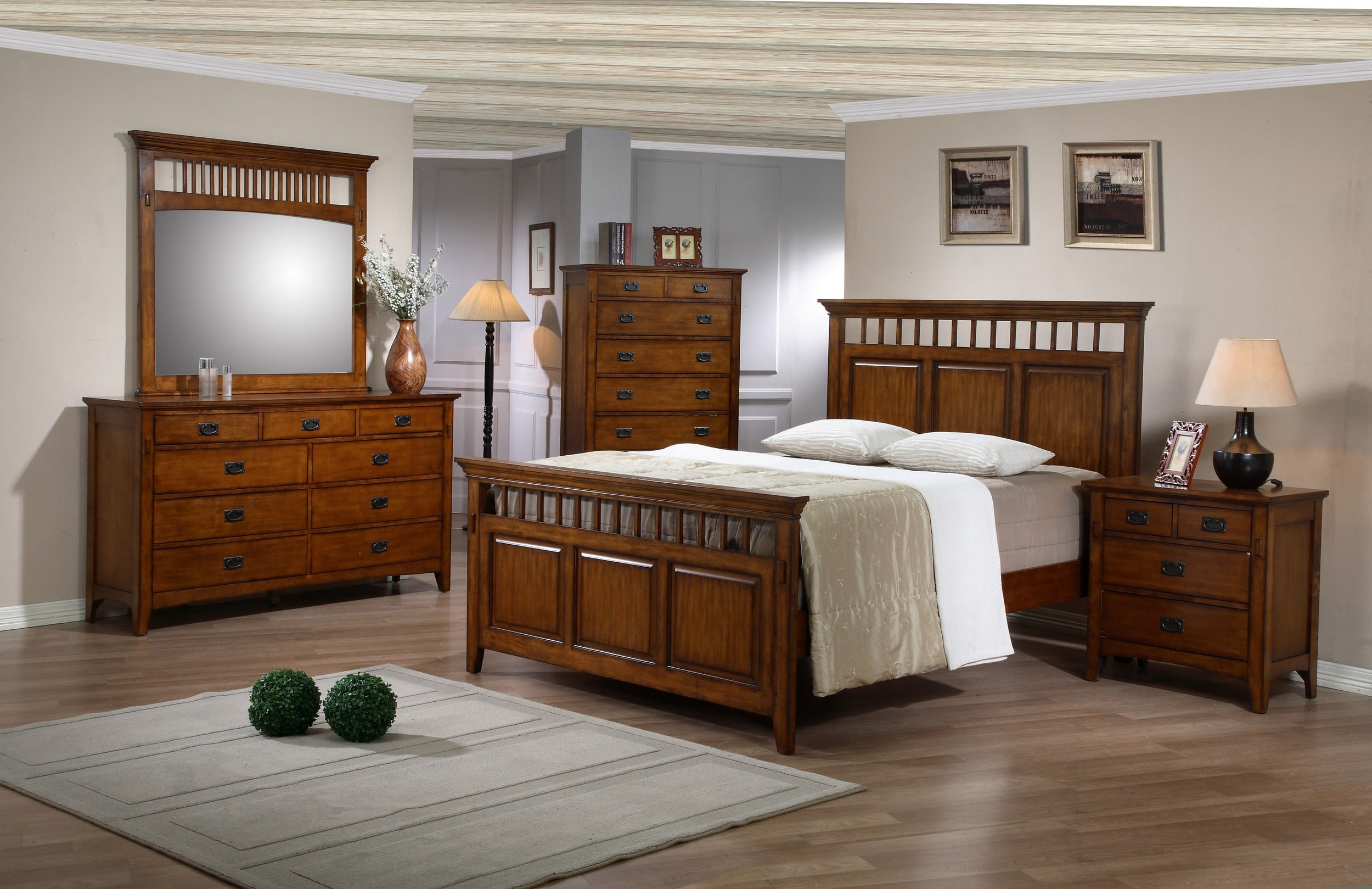 Sunset Trading Tremont Warm Chestnut King 5-Piece Bedroom Set ...