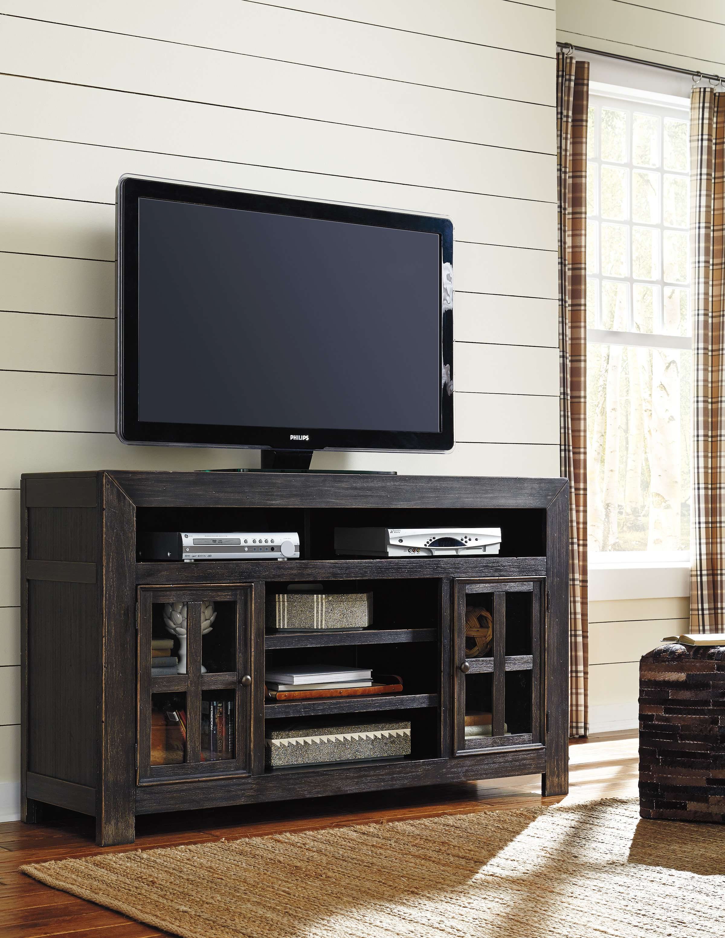d46f50c8716 Signature Design by Ashley Gavelston Black Entertainment Center With ...
