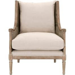 Essentials For Living Patina Churchill Weathered Sand Linen Upholstered Club Chair 8213 Snd W Goedekers Com