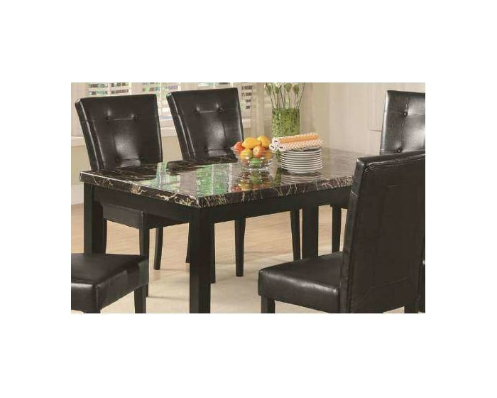 Coaster Anisa Cappuccino Dining Table With Black Faux Stone Top 102791 Goedekers Com
