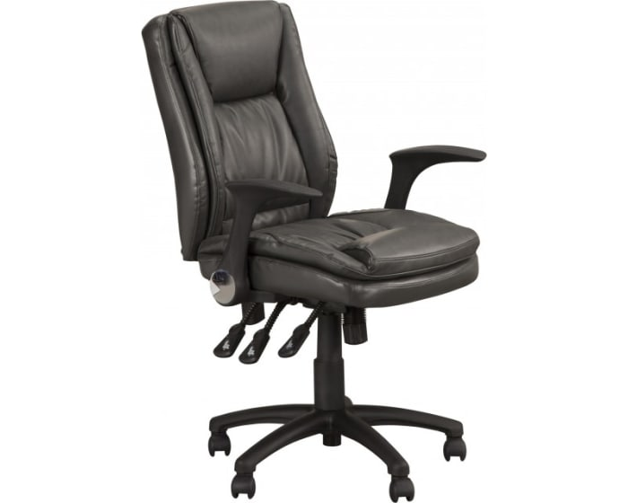 Parker House Fairview Home Gray Office Desk Chair With Flip Up Arms Fh11 9018 Gry Goedekers Com