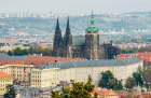 Skyline View of Prague Castle and St Vitus Cathedral
