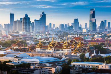 Bangkok Temple and Skyscrapers