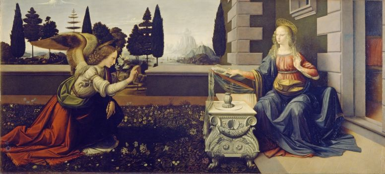 Annunciation Angel Painting in Florence Italy