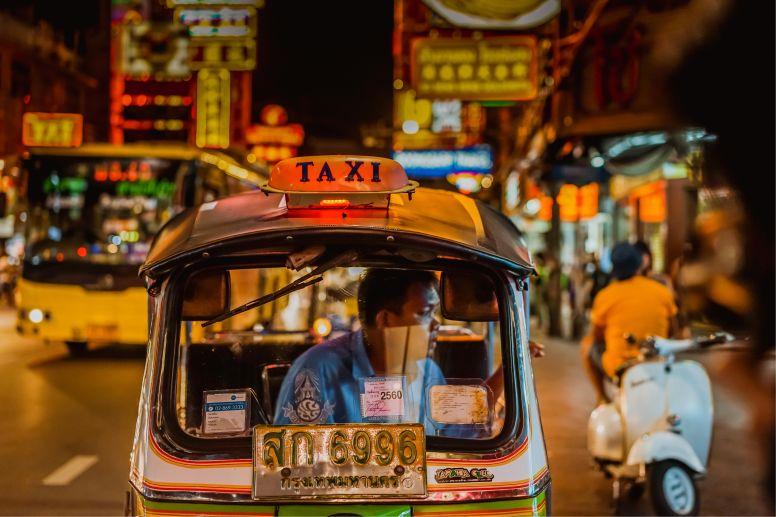 Tuk Tuk in Chinatown Bangkok