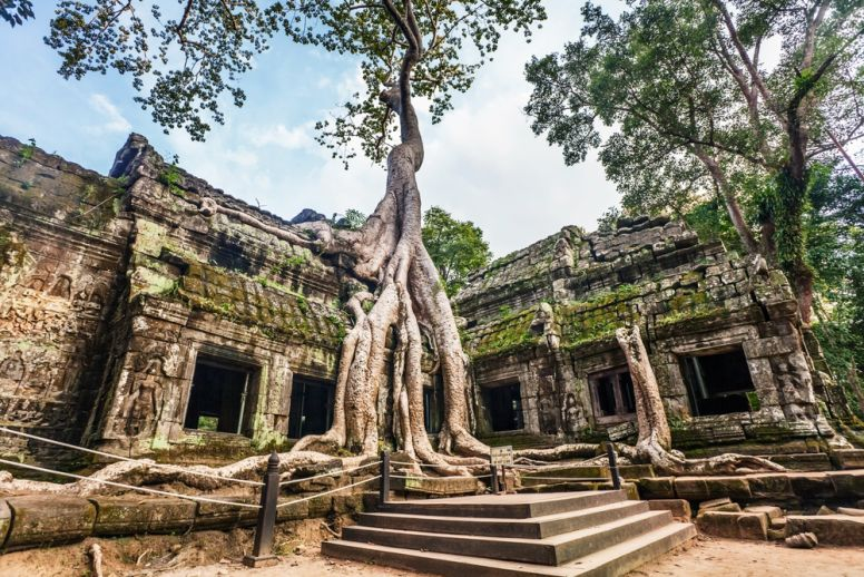 Ruins at Ta Phrom Temple Cambodia