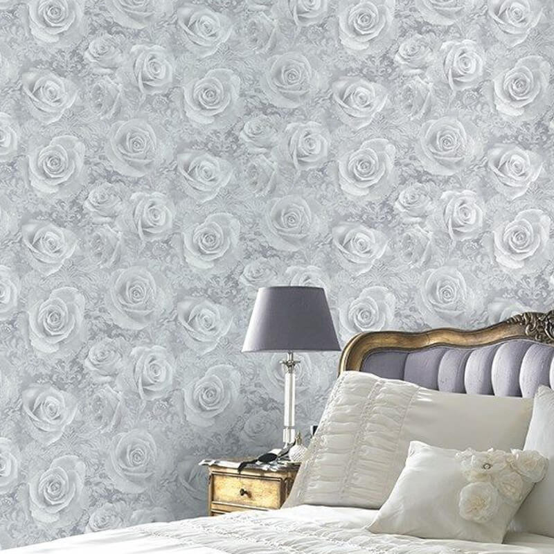 Arthouse Opera Reverie Floral Silver Wallpaper 623303