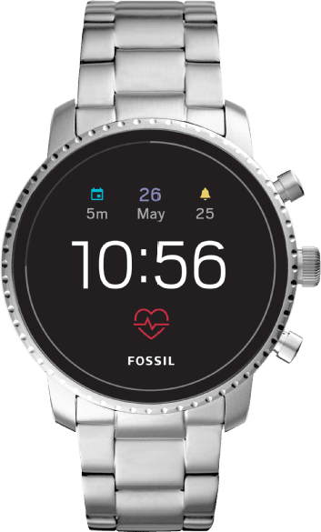 Silber Fossil Explorist HR (4th Generation).1