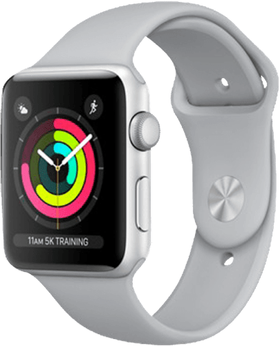 Silber Apple Watch Series 3 GPS, 42mm.1